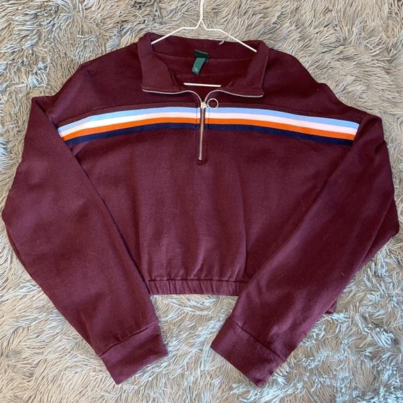 Retro Half Zip Sweatshirt
